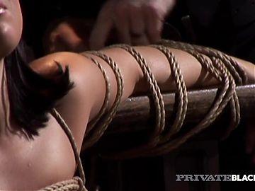 PrivateBlack - Tied Up Ashley Blue Takes Her Masters BBC!
