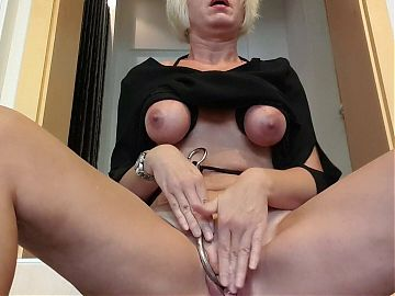 Julies public orgasm at the office