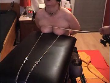 slave tits  in pain