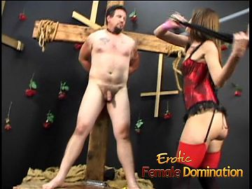 Mistress Brandi Lyons tests her slaves limits in a bdsm