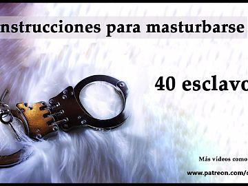JOI - 40 esclavos y muchas amas. Spanish audio.